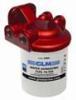 GLM brændstoffilter med konsol i rød farve / 10 micron filter